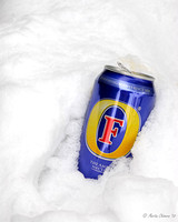 Discarded Beer Can in Snow
