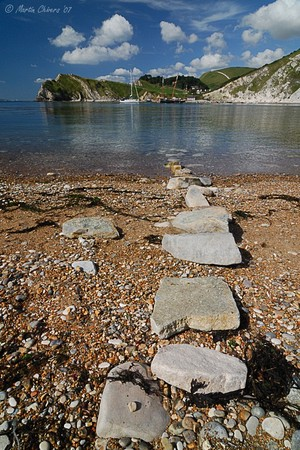 """Stepping Stones"" at Lulworth Cove"